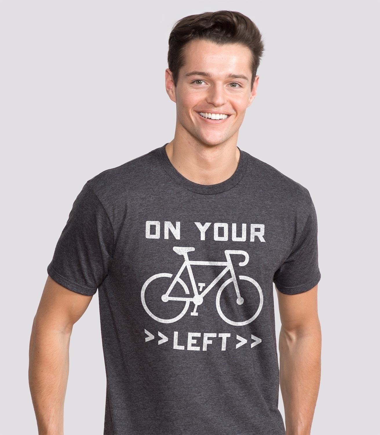 e16e710b On Your Left Funny Men's Cotton/Poly T-Shirt   Headline Shirts