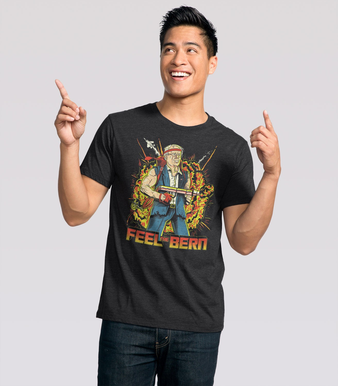 d082d422b Feel the Bern Men's Funny T-Shirt | Headline Shirts