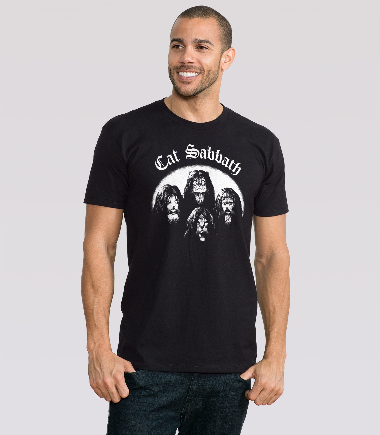 Cat Sabbath Men s Funny T Shirt