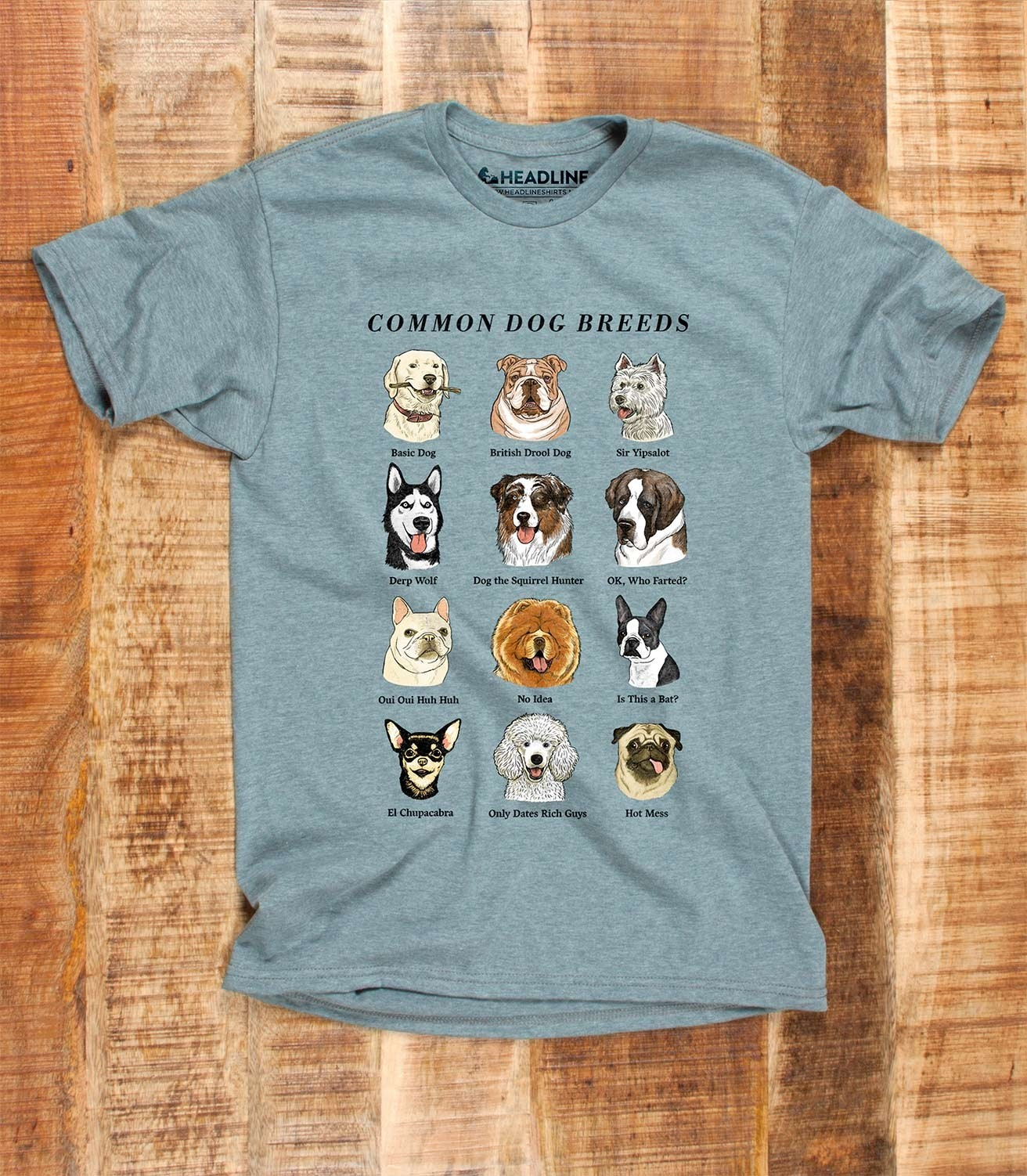 672d6e93 Common Dog Breeds Funny Men's Cotton/Poly T-Shirt | Headline Shirts