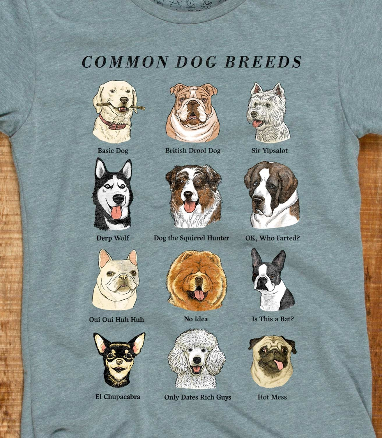 79b25f9a Common Dog Breeds Funny Women's Cotton/Poly T-Shirt | Headline Shirts