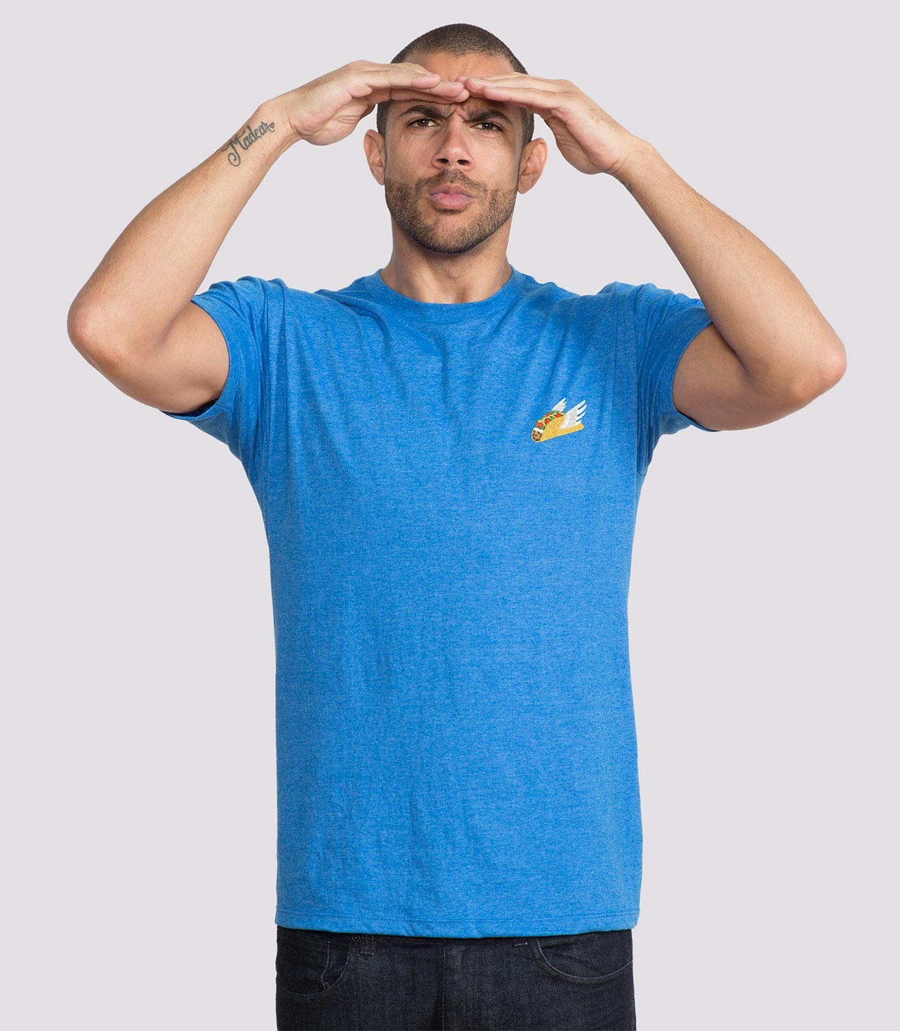 65c66f4e Flying Taco Embroidered Men's Funny T-Shirt | Headline Shirts