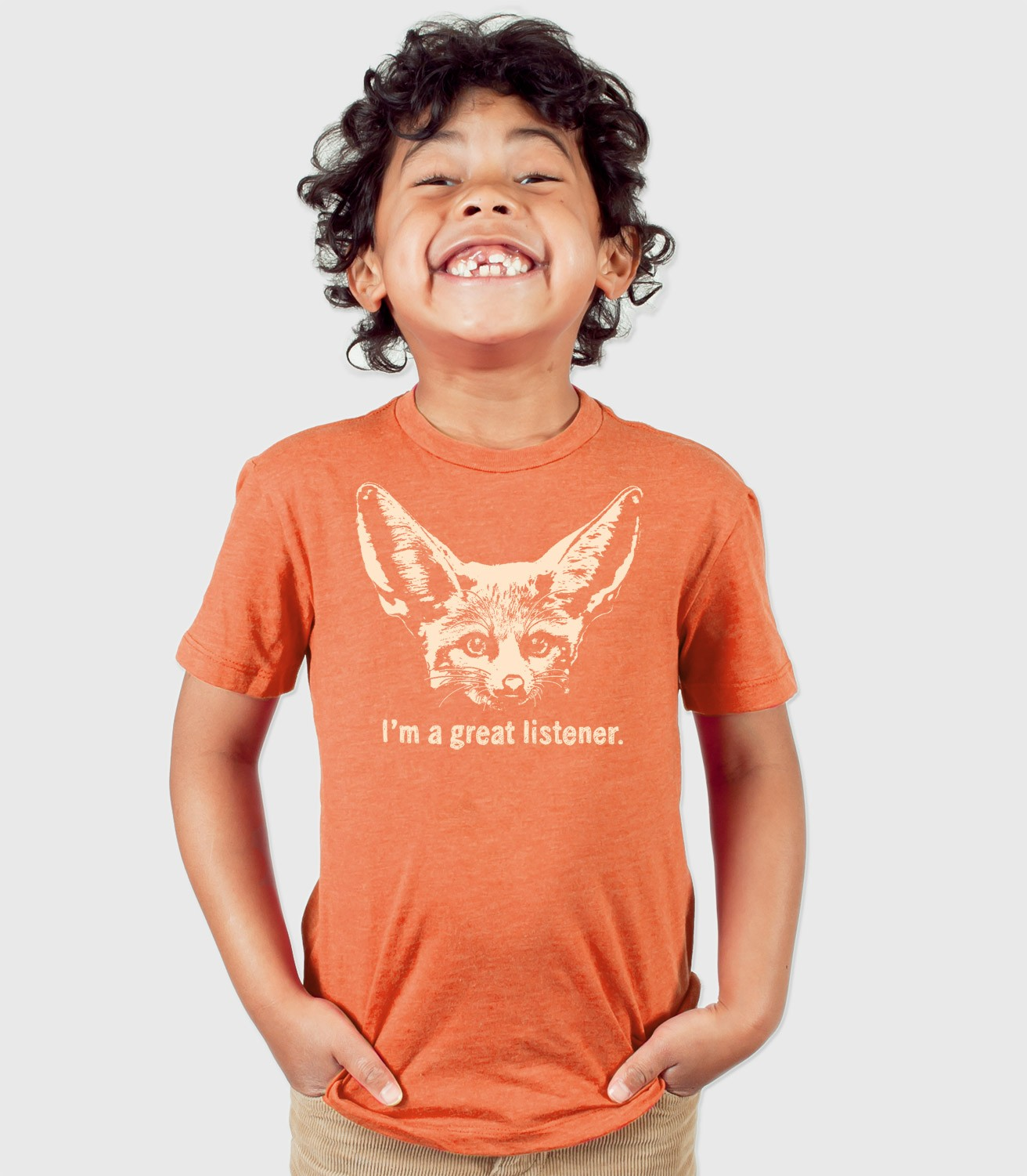 A Cocky Tiger Cotton T-Shirt for Children