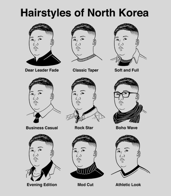 Hairstyles Of North Korea T Shirt Headline Shirts