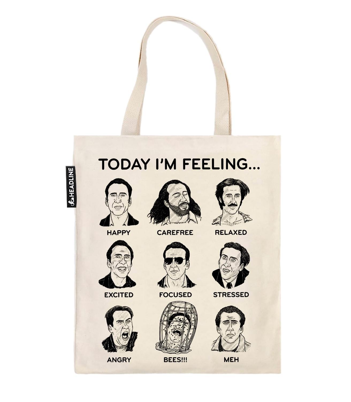 Nicolas Cage Mood Board Funny Tote Bag  b3e5703a3f4e9