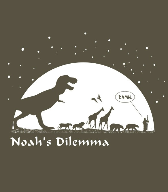 Noah's Dilemma Men's Funny T-Shirt | Headline Shirts