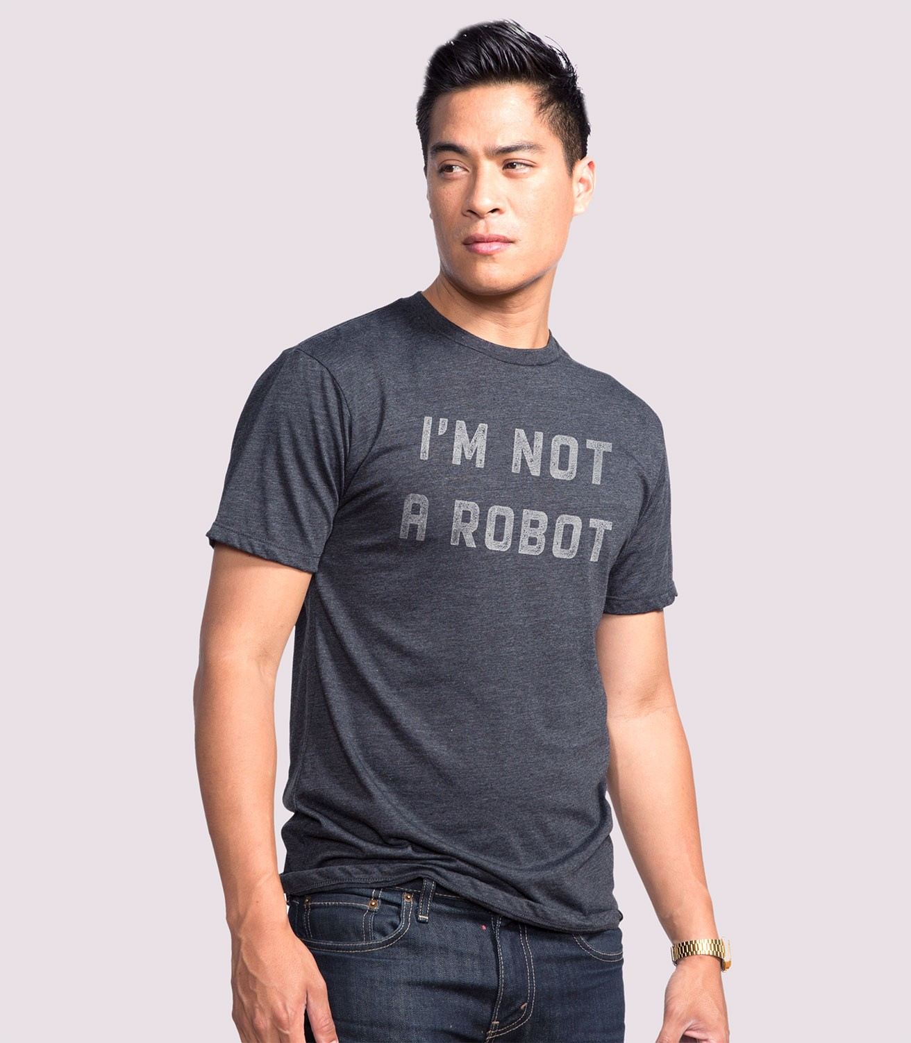 0141e6e8 I'm Not A Robot Men's Funny T-Shirt   Headline Shirts