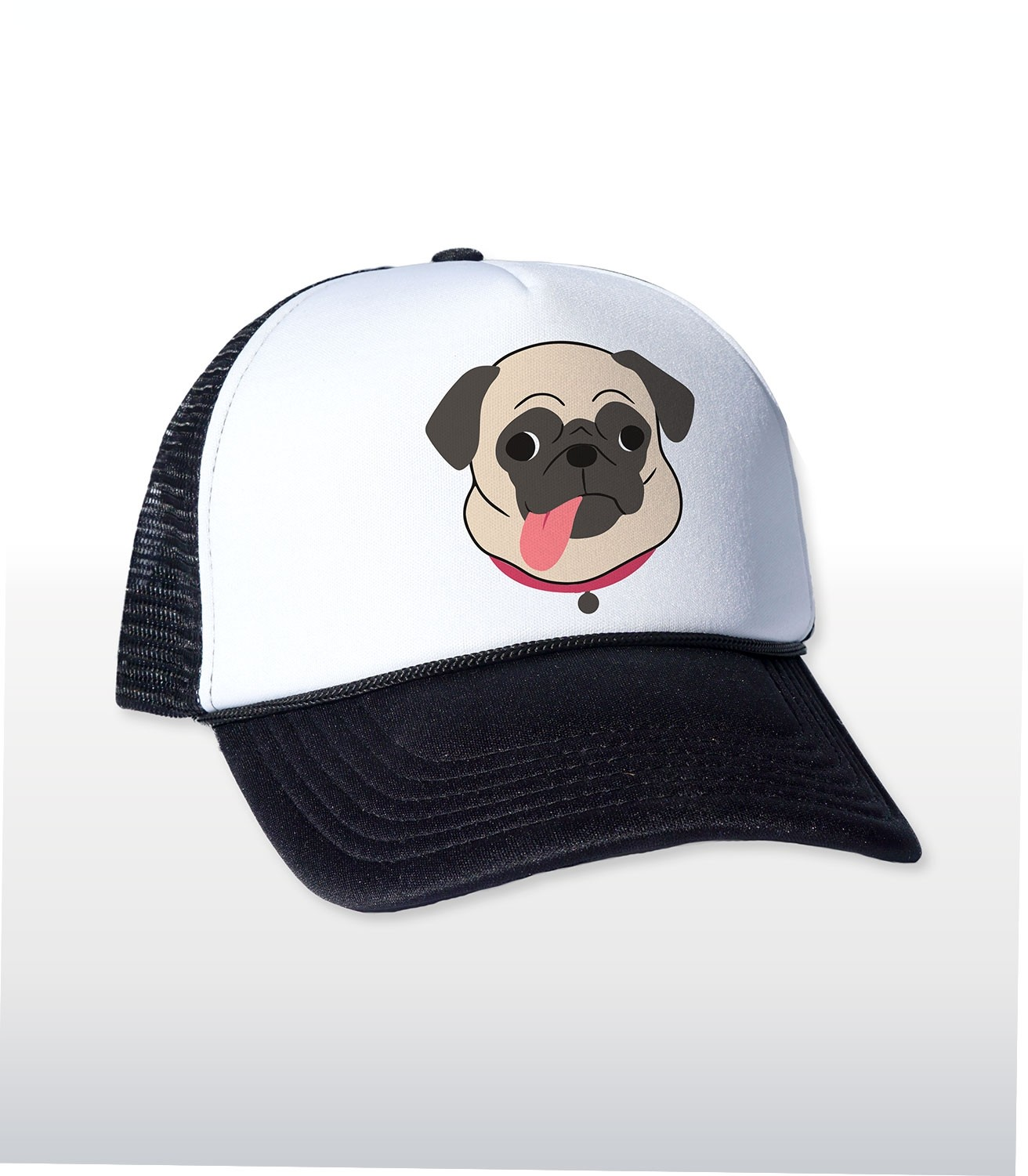 Pug Tongue Funny Trucker Cap   Hat  7013f34fe8d