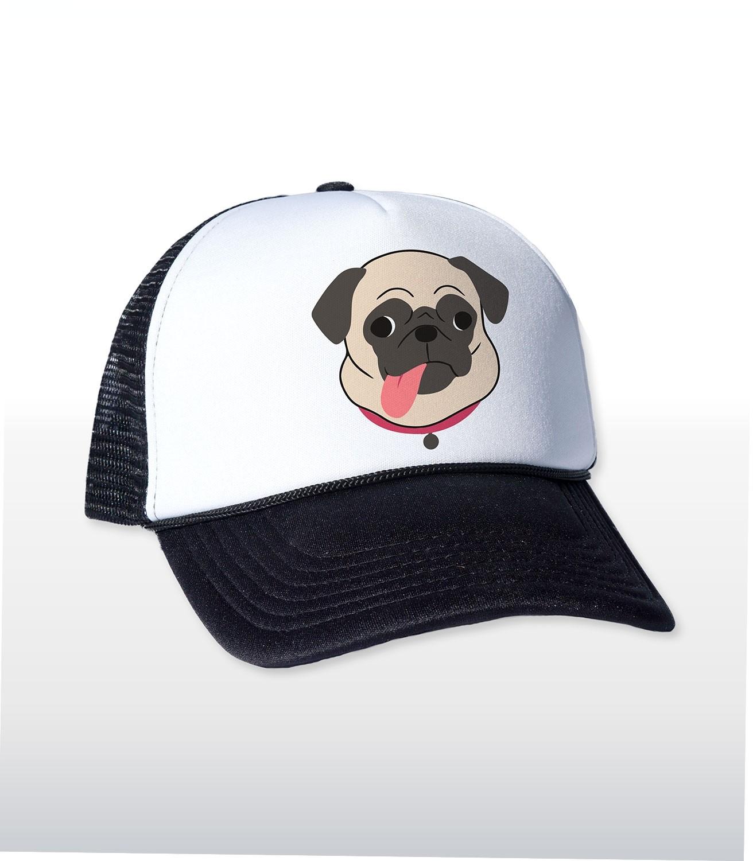 Pug Tongue Funny Trucker Cap   Hat  96785d7df76