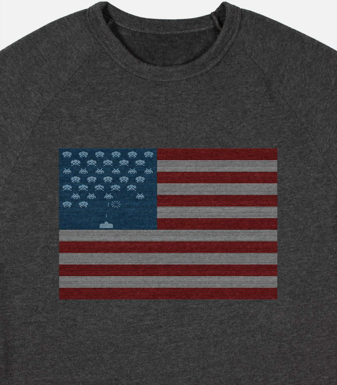 Space Invaders Flag T Shirt Headline Shirts