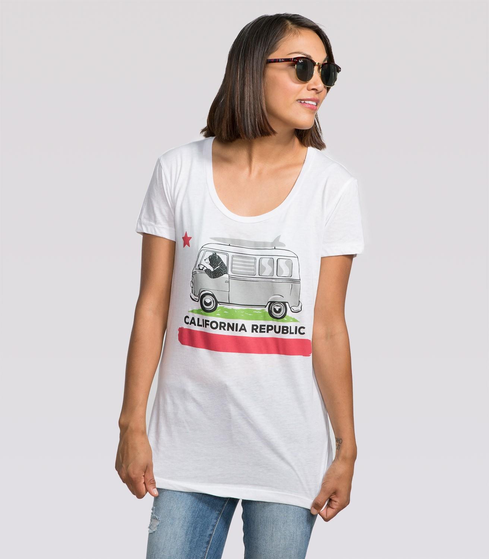 34452f6a Surfer Bear Women's Funny T-Shirt | Headline Shirts