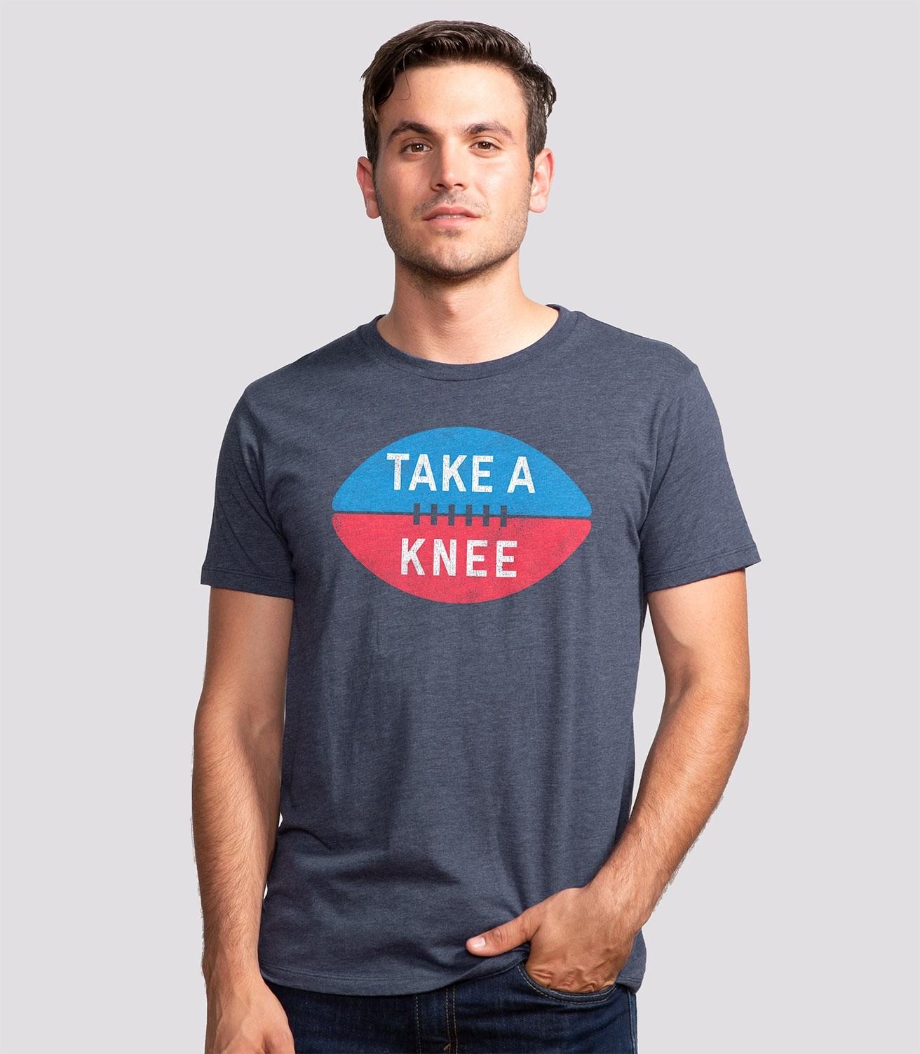 7fd7f0cd Take a Knee Funny Men's Cotton/Poly T-Shirt | Headline Shirts