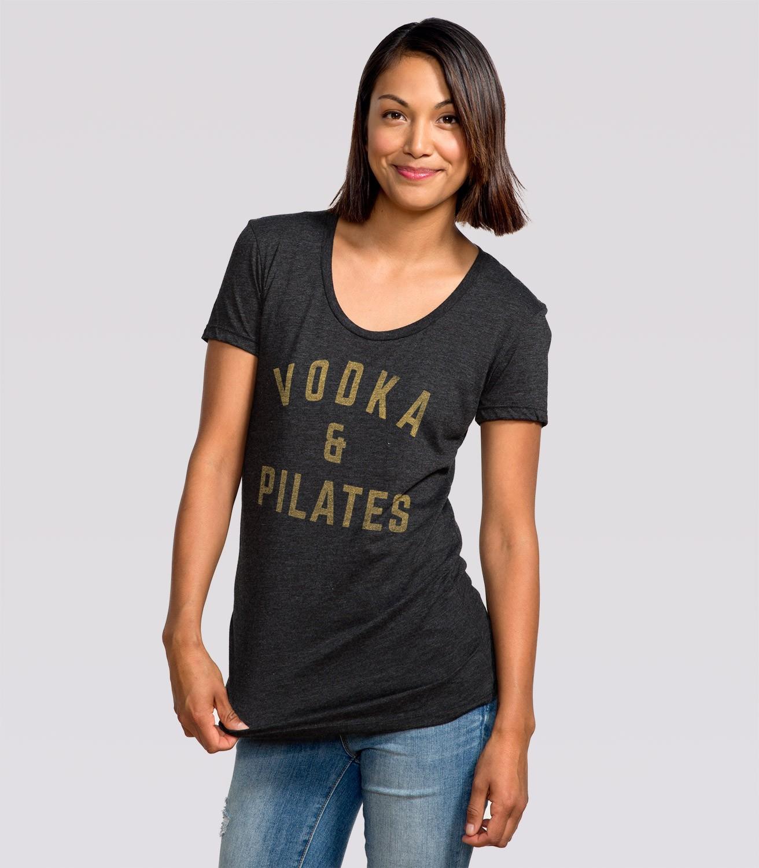 88708d649c3 Vodka   Pilates Women s Funny Exercise T-Shirt