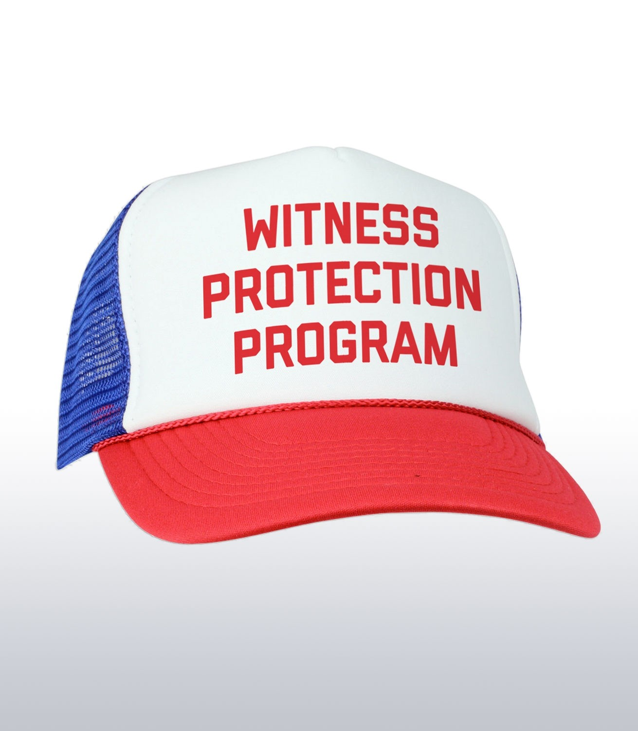 67db9f9491ee0 Witness Protection Program Funny Mafia Trucker Cap   Hat