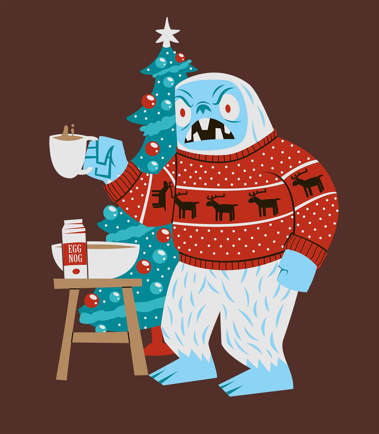 A Very Yeti Christmas T-Shirt | Headline Shirts