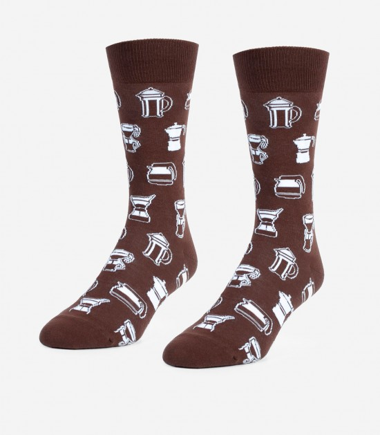 Coffee Coffee Coffee Unisex Large Socks