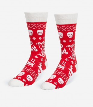 Badass Christmas Sweater Men's Socks