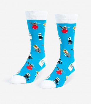 Stuck Cats Unisex Large Socks