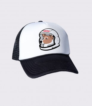 Laika the Space Dog Trucker Cap