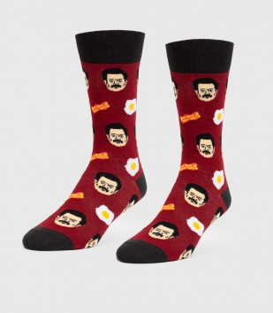 Bacon and Eggs Unisex L/XL Socks