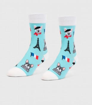 French Bulldogs Unisex S/M Socks