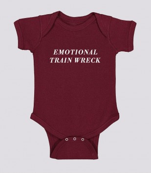 Emotional Trainwreck Onesie