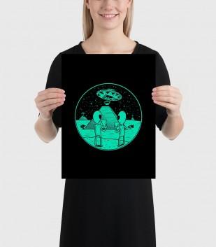 Alien Construction Poster