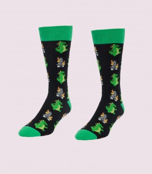 Big Ol' Angry Lizard Men's Socks