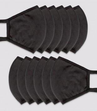 Bulk Wholesale 12-pack Black Face Masks