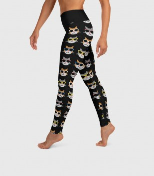 Cool Cats Yoga Leggings