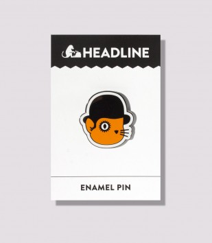 Catwork Orange Enamel Pin
