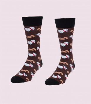 Dogs & Squirrels Men's Socks