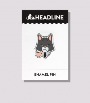 Fancy Cat Enamel Pin