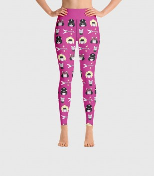 Hair Metal Cats Yoga Leggings