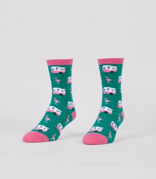 Flamingos & Campers Women's Socks