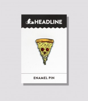 Pizza Skull Enamel Pin