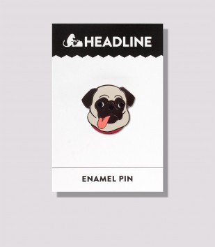 Pug Tongue Enamel Pin