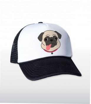 Pug Tongue Trucker Cap
