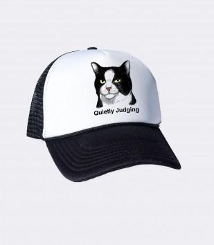 Quietly Judging Cat Trucker Cap