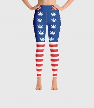 United Weed Stand Yoga Leggings