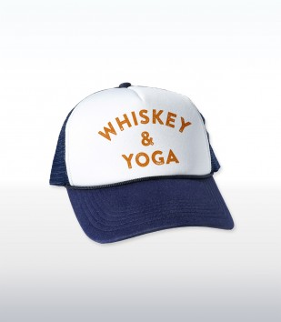 Whiskey & Yoga Trucker Cap