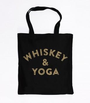 Whiskey & Yoga Tote Bag