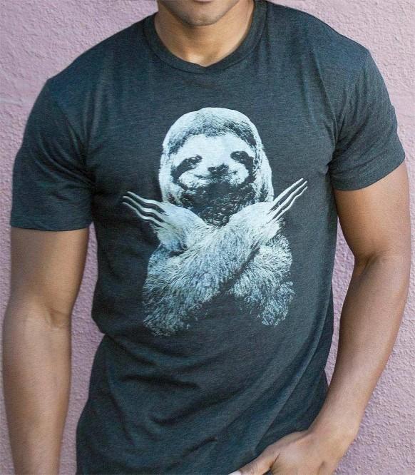 Wolversloth Wolverine Sloth Drôle Parody T-Shirt-Hommes Femmes et Enfants Tailles