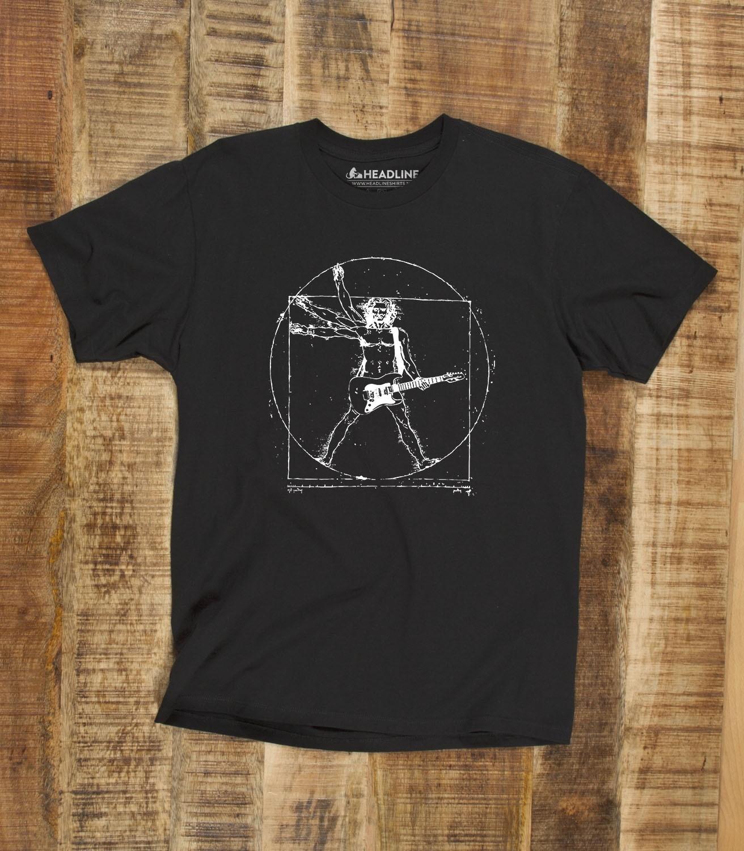 c64f8400409 Da Vinci Rock Man Vitruvian Man Men s Funny T-Shirt