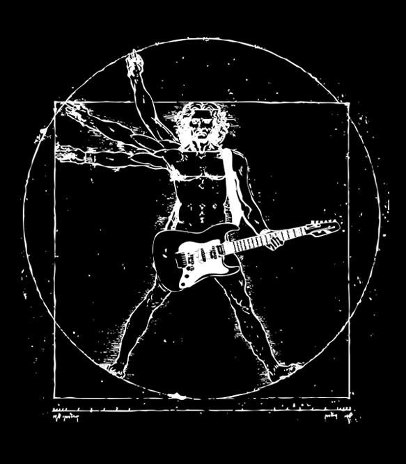 Da Vinci Rock Man Men's Funny T-Shirt | Headline Shirts