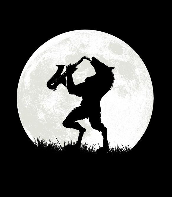 Werewolf Sax Solo T Shirt Headline Shirts