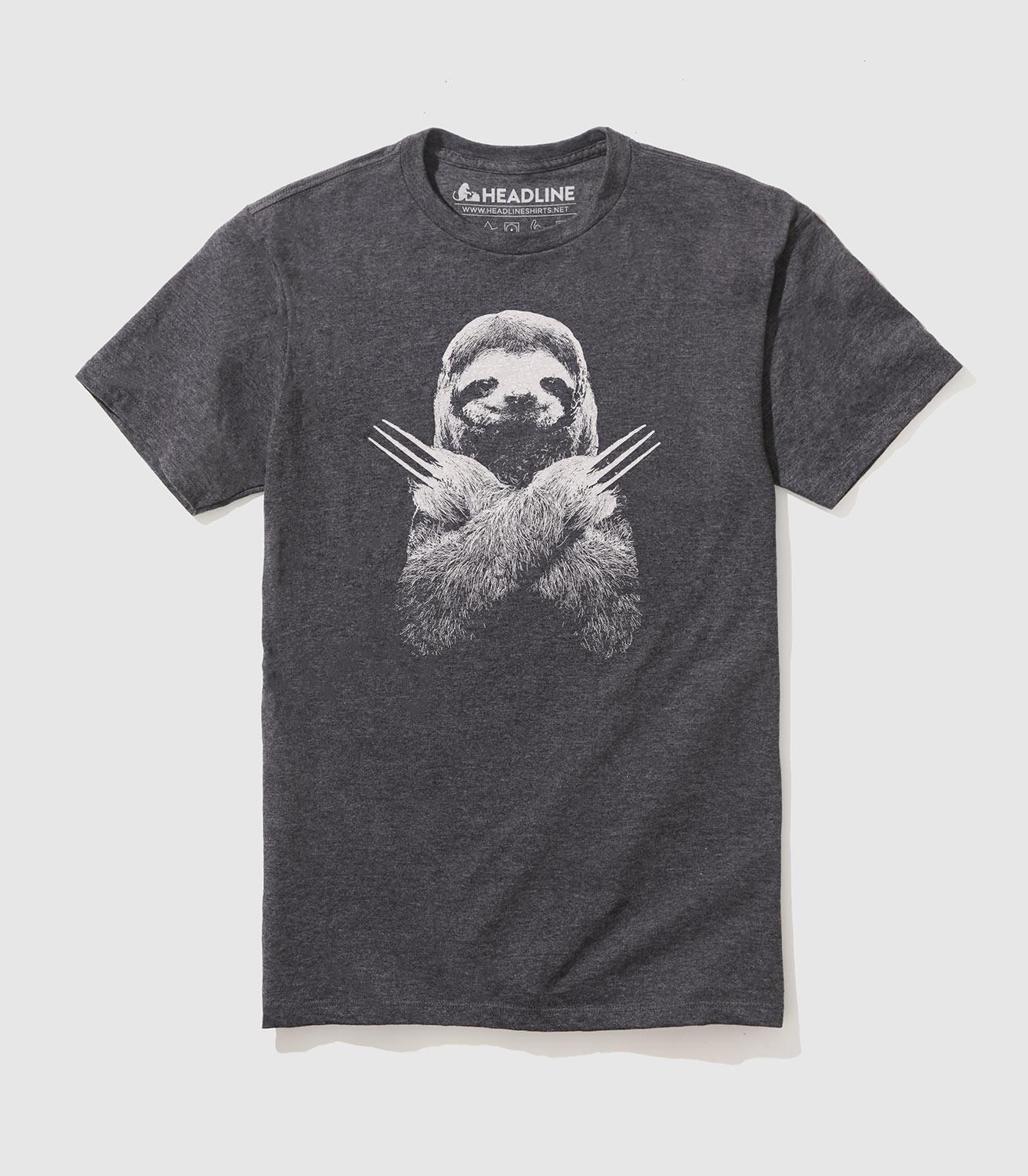Blanc Homme ne pas vite être heureux drôle Sloth Noël Animal T-Shirt